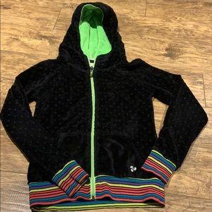 Triple flip zip up hoodie